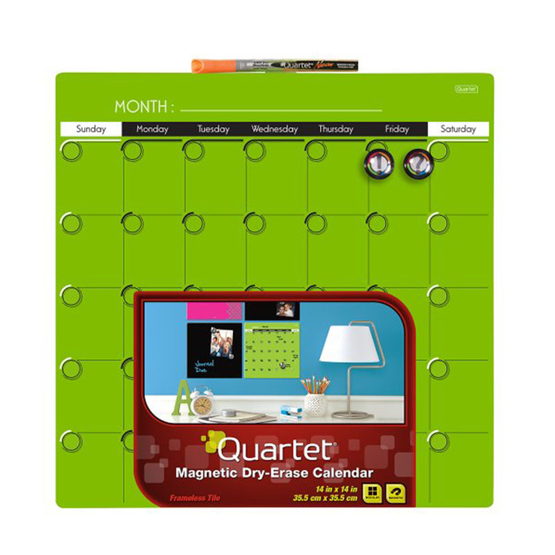 Quartet 14x14 Calendar Board Green