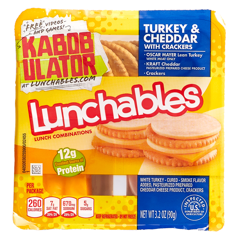 Lunchables Turkey & Cheddar with Crackers 3.2oz