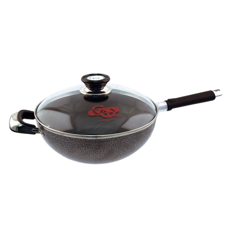 Euro-Home Stir Fry Pan with Glass Lid