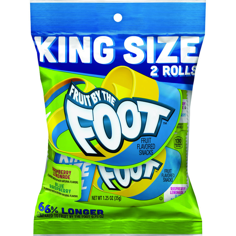 Fruit By The Foot Raspberry Lemonade & Blue Raspberry Fruit Snack King Size 2.5oz