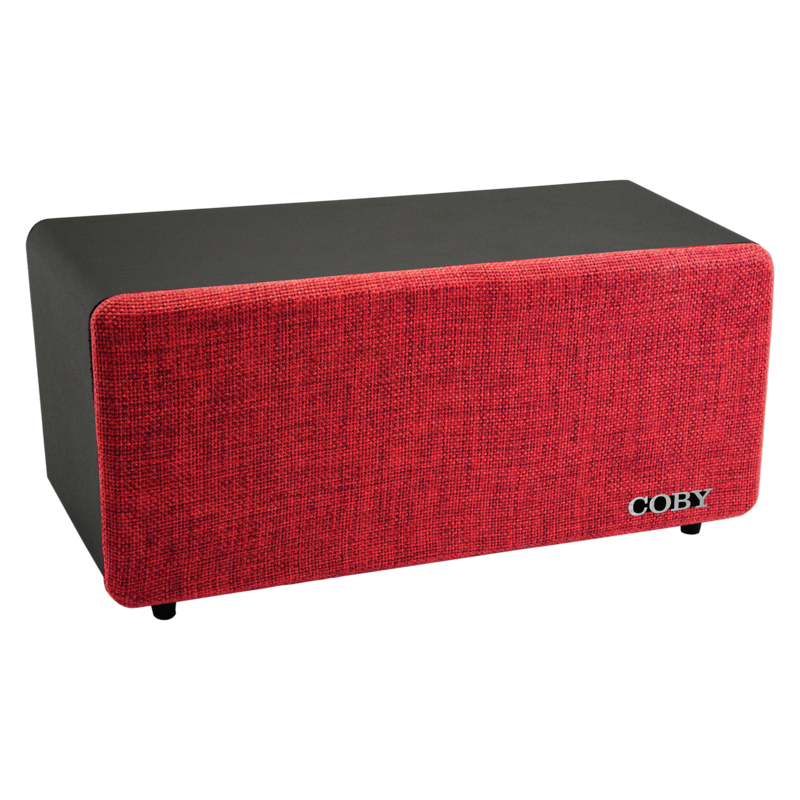 Coby Bluetooth Home Speaker Red & Black