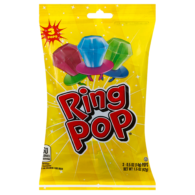 Ring Pop Assorted Flavors Variety Party Pack 3ct
